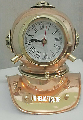 Antique Solid Diving Divers Helmet With Clock Gift