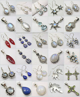 Wholesale Lot! Silver Earrings Pendants Sets! 15 Sets!
