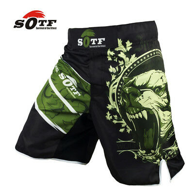 Mma Fight Bjj Shorts Boxing Muay Thai Ufc Cage Grappling Training Gym Shorts New