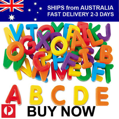 52 Pce EDUCATIONAL TOY MAGNETIC ALPHABET UPPER CASE LETTERS for Kids and Babies