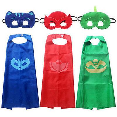 Boys Kids Superhero  Masks Cape Mask Set Owlette Catboy Cosplay Costume Party