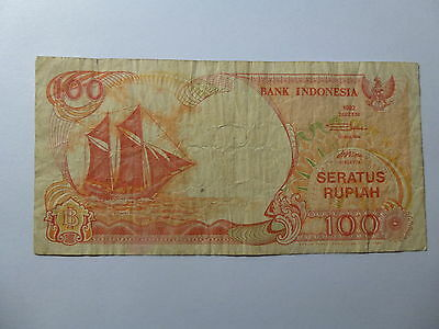 Old Indonesia Paper Money Currency - 1992 100 Rupiah - Well Circulated