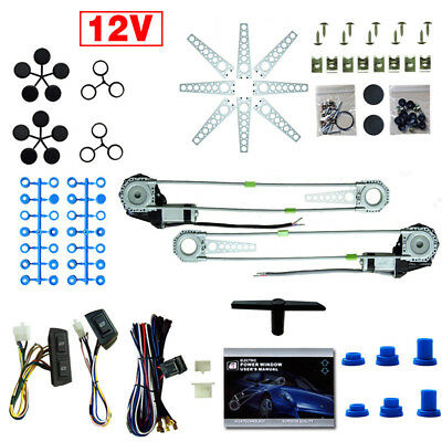 New 2 Door Universal Car Van Power Electric Windows Conversion Kit 12V Switch AU