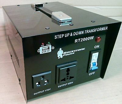 Step Down / Up Transformer 240V 110V AC UK US Voltage Converter 2000W