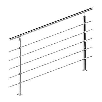 stair handrails stainless steel with 5 cross members 140cm balustrade handrail r