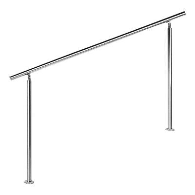stair handrails stainless steel without cross members 160cm balustrade handrail