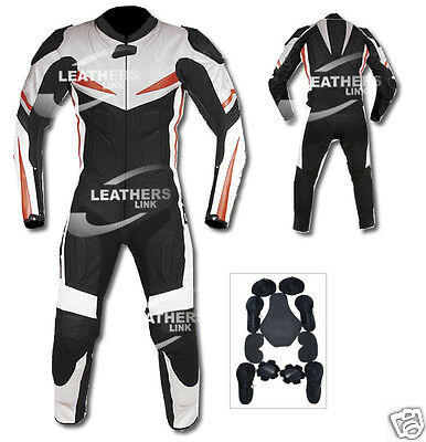 Motorcycle Motorbike Racing Biker Leather Suit MST-128 (US 44,46,48)