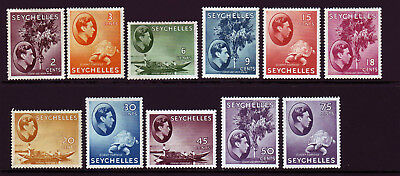 SEYCHELLES. 1938-49, 2c to 75c. MOUNTED MINT SELECTION.