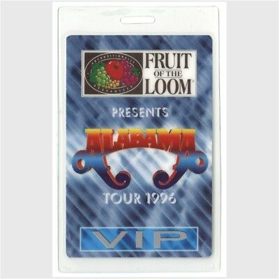 Alabama authentic 1996 concert tour Laminated Backstage Pass country VIP
