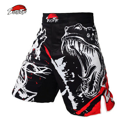 Fight Mma Shorts Boxing Kick Muay Thai Grappling Cage Ufc Martial New