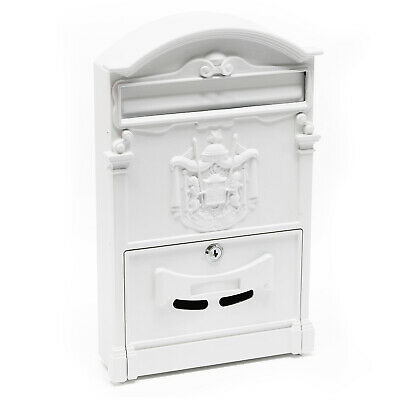 Antique Vintage Mailbox white Letterbox Postbox Pillar Letter Mail Post Box