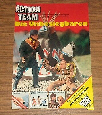 Seltene Werbung Schildkröt ACTION TEAM MAN GI JOE Cowboy Indianer 1976