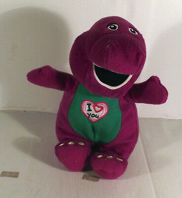 "Musical 10"" Barney Dinosaur Soft Toy - I Love You Song"