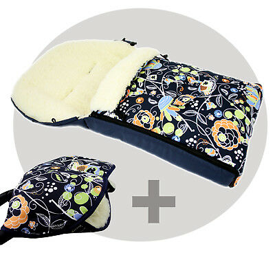 BAMBINIWELT MUFF+WINTERFUSSSACK (90cm) Jogger Buggy Wolle EULE $8