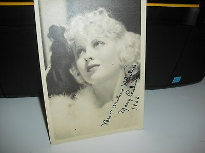 Vintage Genuine Signed Photo of Film/Stage Star 'Mary Carlisle' from 1930s