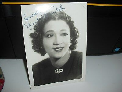 Vintage Genuine Signed Photo of Film/Stage Star 'Elizabeth Welch' from 1930s