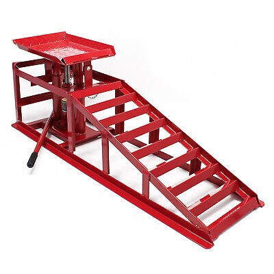 Car service ramp with hydraulic jack 4409lbs (2000kg) height adjustable