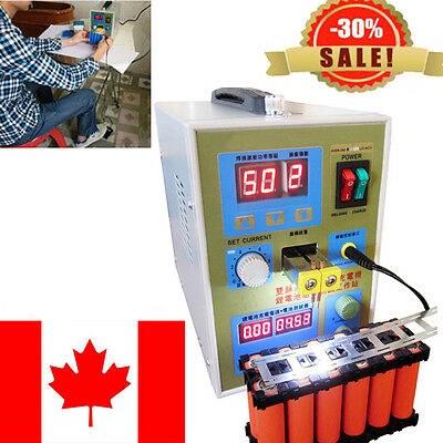 LED Dual Pulse Spot Welder 18650 Battery Charger 800A 0.1-0.2 mm 36V Foot Switch