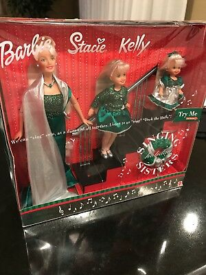 Barbie Stacie Kelly Singing Holiday Sisters NWT NOS 2000 Mattel