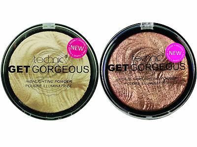 Get gorgeous Pack Of 2 - Shimmer Highlighter Powder Bronze Illuminate Face
