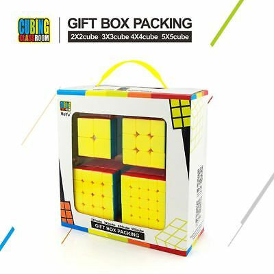 MoYu Gift Box Package 2x2 3x3 4x4 5x5 Stickerless Magic Cube Speed Puzzle UK