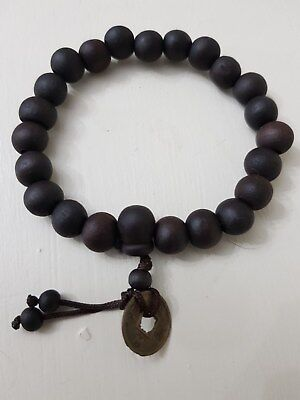 Wooden Hand crafted Bead Bracelet from Khao San Road Thailand - large