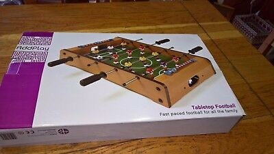 Wooden Mini Football Table Top Football Game Set Kids Family Desktop Play Toy