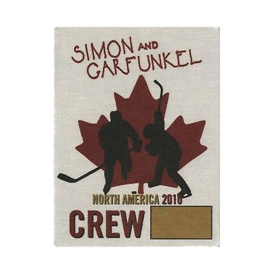 Simon & Garfunkel authentic 2010 tour Satin Cloth Backstage Pass original crew
