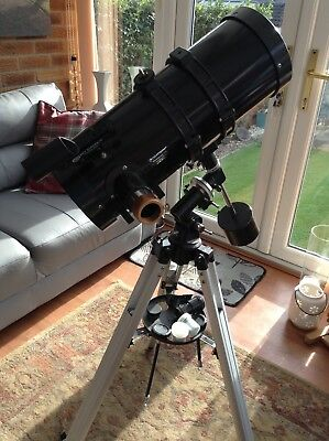 celestron telescope power seeker.with 3 lens, great first telescope.