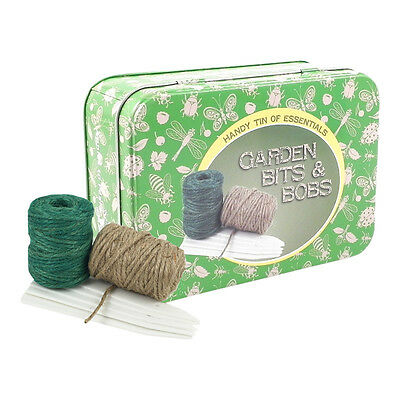 Garden Bits and Bobs Tin of Essentials – Plant Markers Jute Twine Wire Labels
