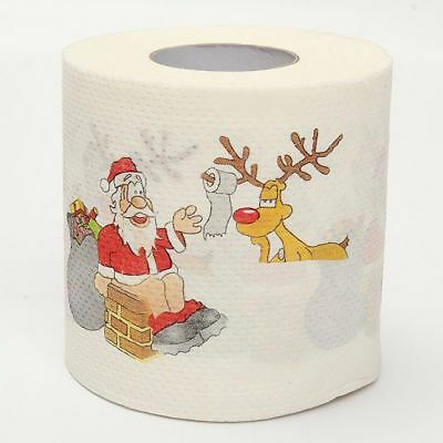 1 Roll Funny Santa Claus Christmas Toilet Roll Paper Tissue Living Room Décor