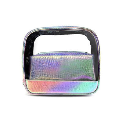 W7 Duo Mermaid Bag - Shimmer Holographic Two Bags Makeup Cosmetics Rainbow Brush