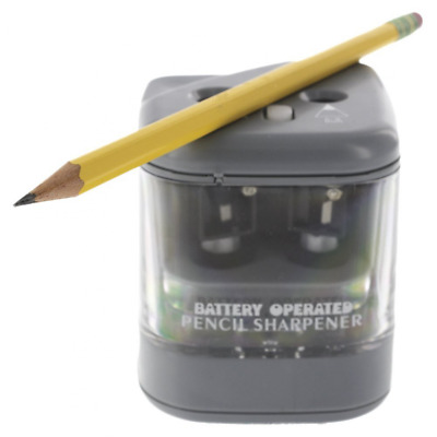 Duo Power Electric Pencil Sharpener. For Home, School, Work, and Classroom. 2 Pe