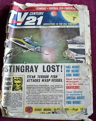 TV CENTURY 21 ISSUE 1 #1 No.1 FIRST ISSUE XL5 STINGRAY THUNDERBIRDS WHO ANDERSON