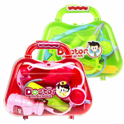 5Pcs Kid Doctor Medical Play Set Pretend Carry Case Kit Role Play Child Toy Gift