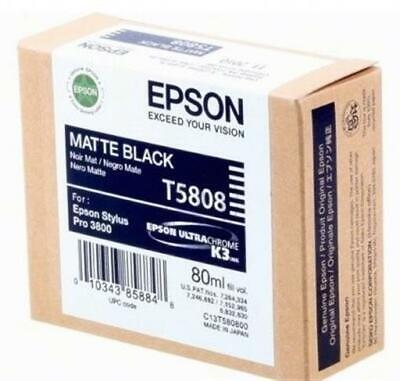 Pro 3800 3880 Matte Black T5808 Epson Genuine Original Ink Cartridge