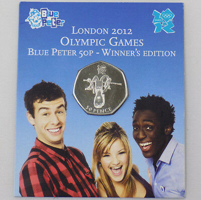 2009 London 2012 Olympics Blue Peter 50p Coin - Winner's Edition Sealed in Pack