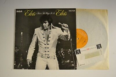 Elvis Presley That`s The Way It Is Lp + Something From Elvis` Wardrobe For You.