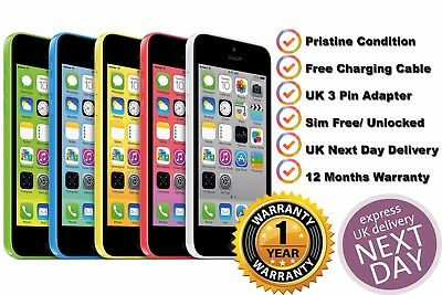 Pristine Apple iPhone 5c 16GB Unlocked SIM Free Smartphone Various Colours