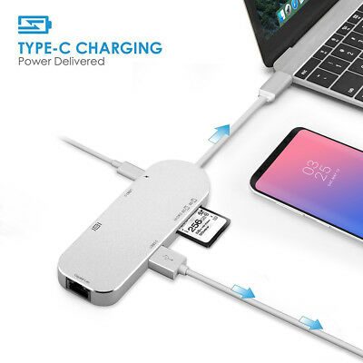 7in1 USB-C Hub Type C multiple Adapter with USB3.0 SD/TF 4K HDMI For MacBook Pro