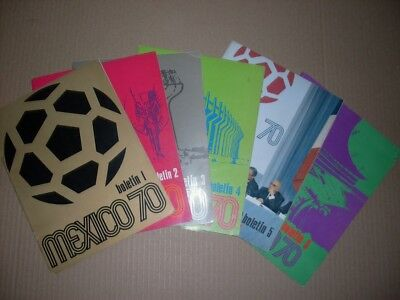 1970 World Cup Set of Official  Bulletins  MEXICO 70 in 4 different languages !