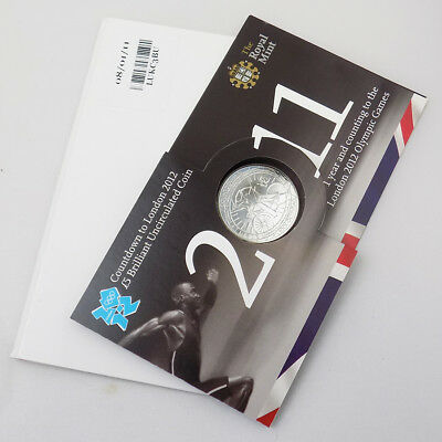 2011 UK Countdown to London 2012 Olympics BU £5 Coin Presentation Pack - Cycling