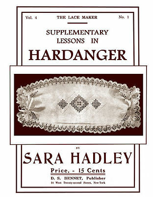 Sara Hadley #4.01 c.1906 Supplementary Instructions in Hardanger Embroidery