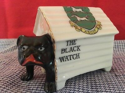 Arcadian Crested China 'The Black Watch' Bulldog within Ascot Crested Kennel