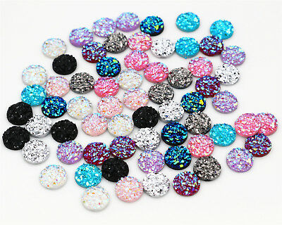 10mm Druzy Style Resin Cabochons | Choice of 10 Colours or Mixed | Pack of 40pcs