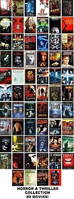 80 Horror/Thriller Film Collection DVD: IT, The Exorcist (ONLY $2.25 PER MOVIE!)