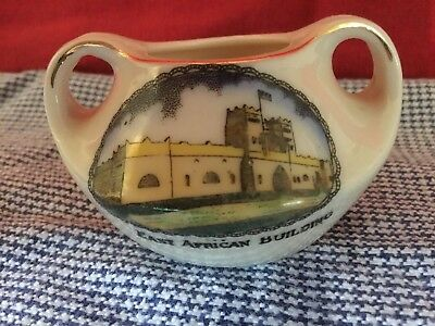 Grafton China Wembley 1924 Exhibition pot: East African Building colour transfer
