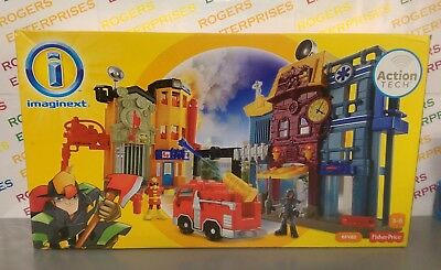 Fisher-Price Imaginext Action Tech Rescue City Center BFY82 Playset NEW Box Poor