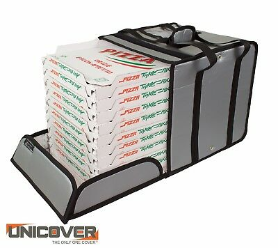 Grey Thermal Pizza Delivery Bag for 10 pizza boxes