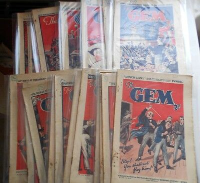 20 x The Gem comics from 1935 professionally bagged - nice job lot!